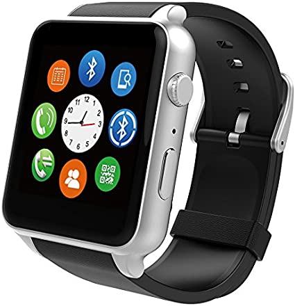 FENGSHI SuperWatch Smart Watch Bluetooth NFC Connectivity Sports Watch with Heart Rate Monitor,Touch Screen and Magnetic Charging for Android Apple ...