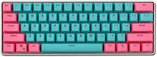 YQYL Teclado GK61 Teclado Personalizado mecánica de Colores ...