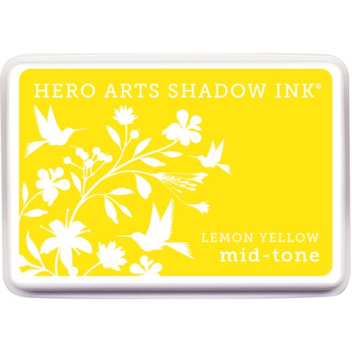 (Hero Arts Mid-Tone Shadow Ink Pad, Lemon Yellow)