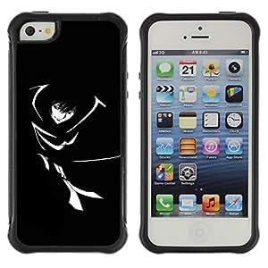 Suave TPU GEL Carcasa Funda Silicona Blando Estuche Caso de protección (para) Apple Iphone 5 / 5S / CECELL Phone case / / Black & White Girl /
