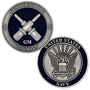 U.S. Navy Gunner's Mate (GM) Challenge Coin from Armed Forces Depot