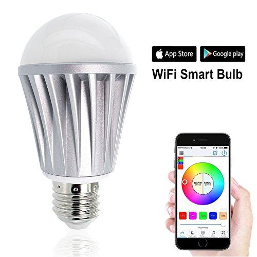 WiFi Smart Light Bulbs Remote Control Lights Multicolored Color Changing Light Bulb for Bar Home - 7.0 Watts WiFi Bulbs