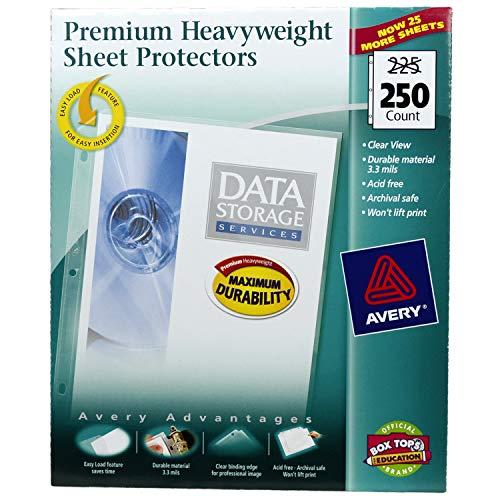 Very Diamond Clear Heavyweight Sheet Protectors, Acid Free, Box of 250