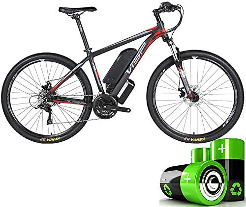 HJHJ Bicicleta de montaña eléctrica, Bicicleta híbrida de batería de Litio 36V10AH, Bicicleta de Nieve de 26-29 Pulgadas, Freno de Disco mecánico de tracción de Cable de 24 velocidades,26 * 17in: Amazon.es: Hogar