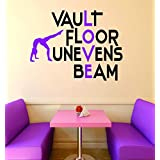 Discounted Decal Sticker : Vault Floor Unevens Beam Gymnastics Sign Teen Girl Bedroom Decoration Picture Art Home Decor Size : 16x24 - 22 Colors Available