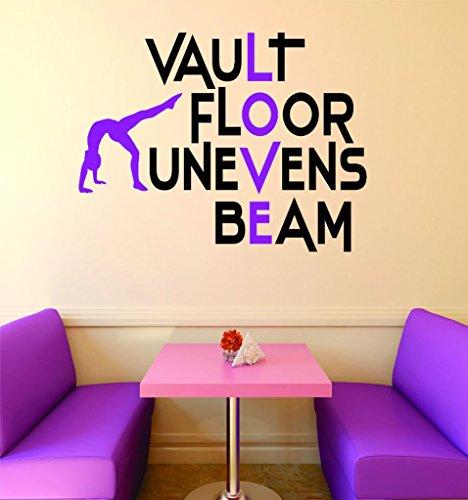 Design with Vinyl RAD V 389 1 Vault Floor Uneven Beam Gymnastics Sign Teen Girl Bedroom Decoration Picture Art Home Decor Decal, 16