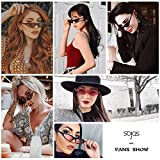 6cfd75d325 HIGH QUALITY MATERIALS - This SojoS Vision fashion cat eye sunglasses is  made from high quality plastic frame
