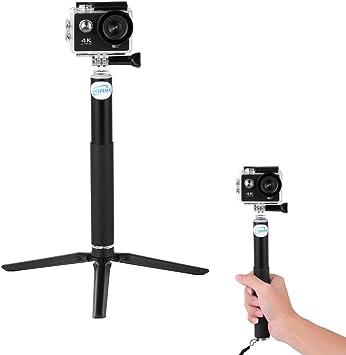 Telescopic Selfie Pole GoPro /& Action Cameras Monopod For Compact Cameras