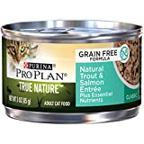 Purina Pro Plan Natural, Grain Free Pate Wet Cat Food, TRUE NATURE Natural Trout & Salmon Entree - (24) 3 oz. Pull-Top Cans Larger Image