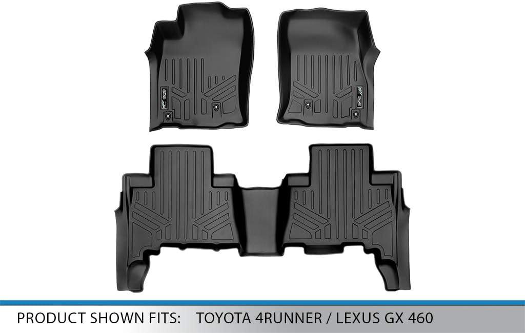MAXLINER Custom Fit Floor Mats 2 Row Liner Set Black for 2010-2012 Toyota 4Runner 2010-2013 Lexus GX460