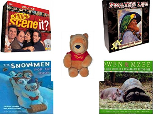 Children's Gift Bundle - Ages 6-12 [5 Piece] - Scene It? Seinfeld - Pirate's Life Redbeard & Paully Puzzle 550 Piece - Walt Disney Company Exclusive Winnie The Pooh Sitting Plush 9