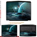 Decalrus Matte Protective Decal Skin Sticker for Alienware M17x R3 with 17.3in Screen (IMPORTANT: to get correct skin for your M17X Must view IDENTIFY image) case cover Matte-M17XR3-102