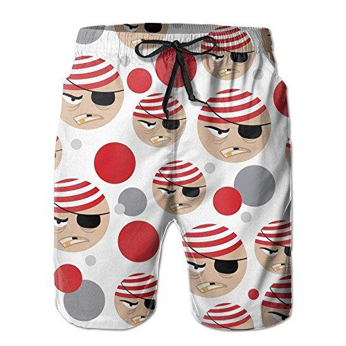 Silky Pirate Bandana (Man Quick Dry New Style Pirate Cartoon Beach Pants)