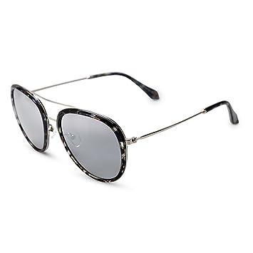 WYYY Sonnenbrillen Schutzbrillen Fahrbrille Ms. Große Grenze Gefärbt Klassisch Retro Polarisiertes Licht Sonnenschutz Anti-UVA UV-Schutz 100% (Farbe : Transparent gray) WaGVlM8