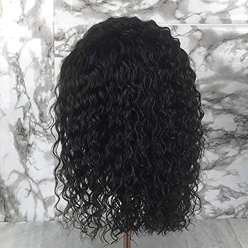 Short Full Lace Human Hair Wigs With Baby Hair For Blace Women Pre Plucked Hairline Brazilian Virgin Lace Front Human Hair Wigs 8''-16'' Loose Curly Hair Natural Color (Lace Front Wig 8) by Berimy (Image #4)