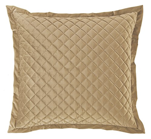 HiEnd Accents Quilted Velvet Oatmeal (Quilted Accent)