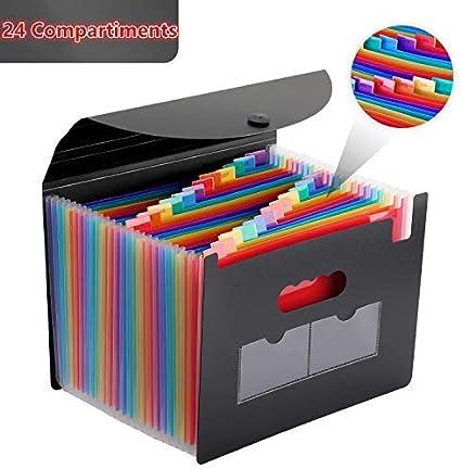Trieur 13 Compartiments A4 Extensible Range Document Dossiers Accordéon Classeur Plastique ...