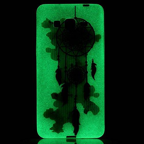 GOCDLJ Carcasa para Samsung Galaxy S5, Funda para Samsung Galaxy S5 TPU Silicona Transparent Noctilucent Glitter Bling Caja, Alta Calidad Ultra Delgado Fino y Resistente a Caidas con Protector de Pant Vistoso Campánula