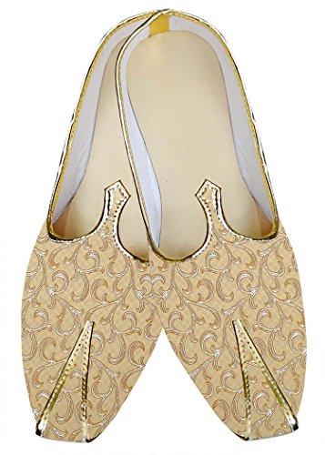 Inmonarch Hombres Bisque Wedding Zapatos Diseñador Mj015659