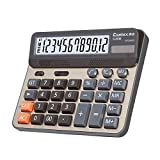 Comix C-2735 Large Computer Keys Calculator, 12 Digits Display, Champaign Gold Color Panel
