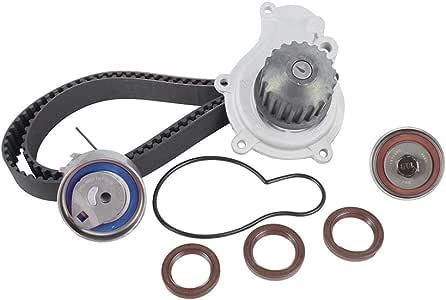 DNJ TBK151BWP Timing Belt Kit with Water Pump/For 2003-2010 / Chrysler, Dodge, Jeep/Caravan, Liberty, PT Cruiser, Sebring, Stratus, Voyager, Wrangler / 2.4L / DOHC / 16V / EDZ/VIN 1, VIN 9