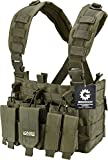 Loaded Gear Tactical Chest Rig Light Outdoor Adjustable (Green)