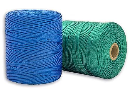 200 m Verde Set de 2 Piezas Cordaman/ía CMHP00PHAB unidades de hilo de replanteo azul