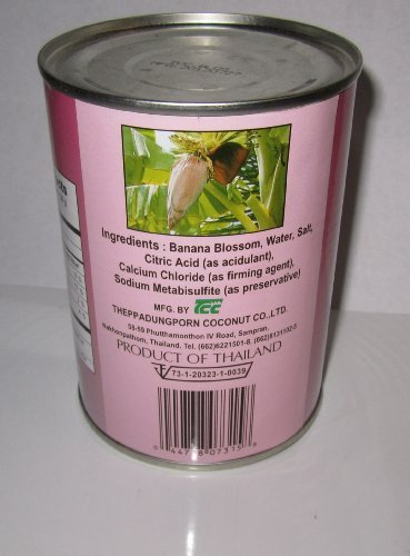 Chaokoh Banana Blossom in Brine Pack of Four 260g Per Can (Drained Wt.)