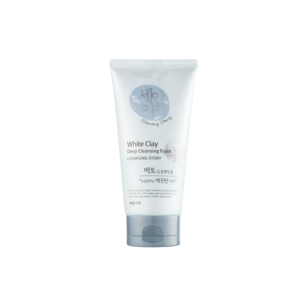 Cleansing Story Natural Facial Deep Foam Cleansing - White Clay