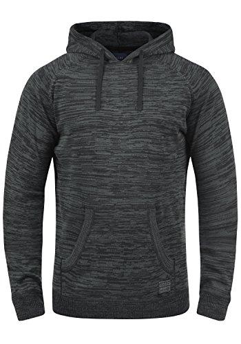 capuche hommes tricoté 70155 Blend coton Pull finement Sammy pour à 100 capuche à Pullover noir SXnvXwaq