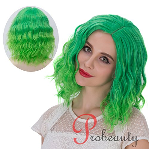 Probeauty Beach Wave Curly Short Wig (Green