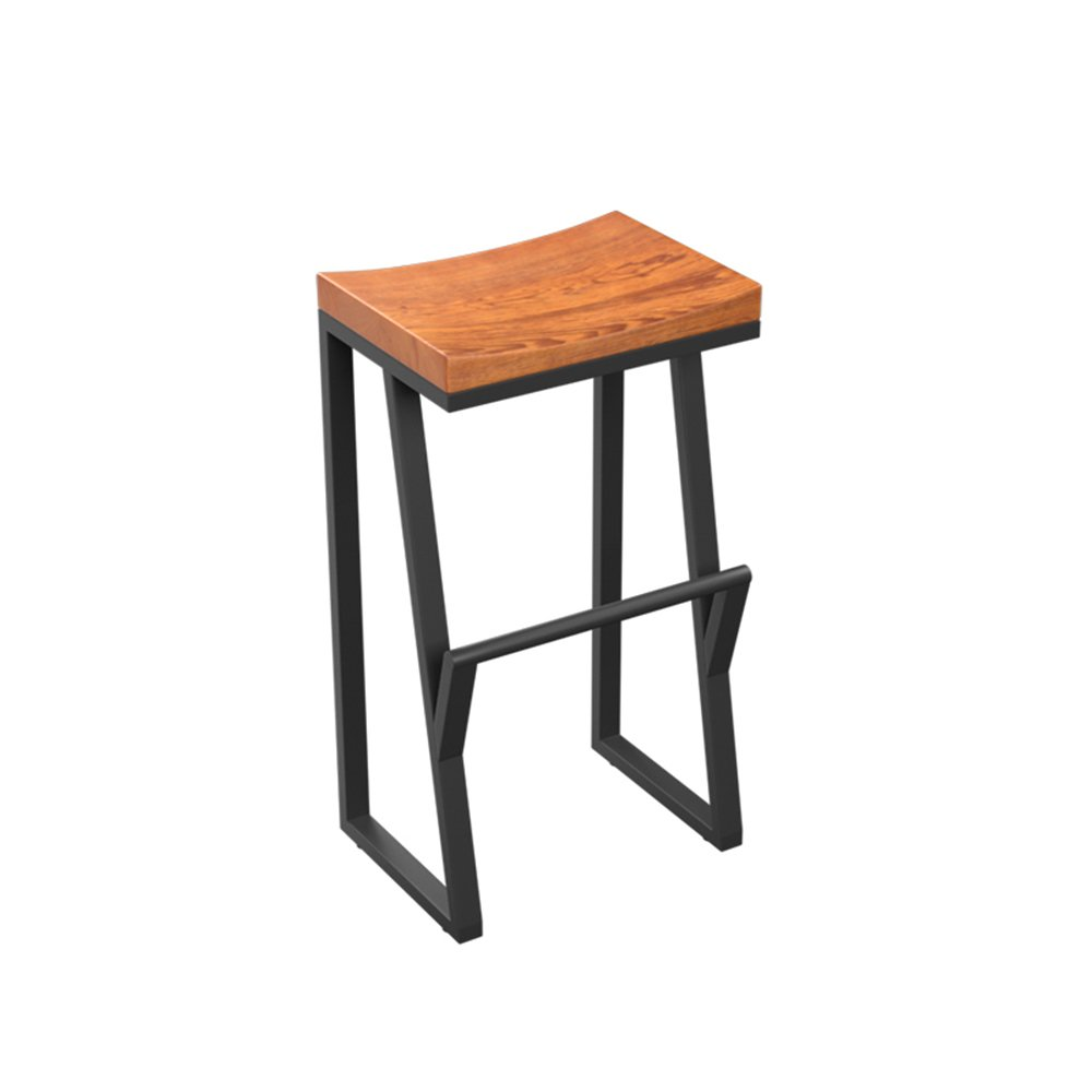 バースツールVintage Iron Bar Chairソリッドウッドコーヒースツール工業用バースツール (サイズ さいず : 63センチメートル) B07DF56CQ3 63センチメートル 63センチメートル