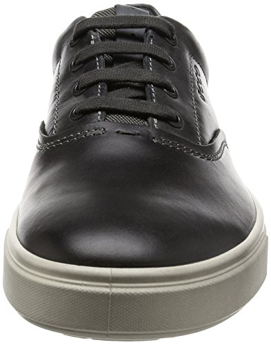 Ecco Mens Kyle Retro Fashion Sneaker Moonless / Titanio