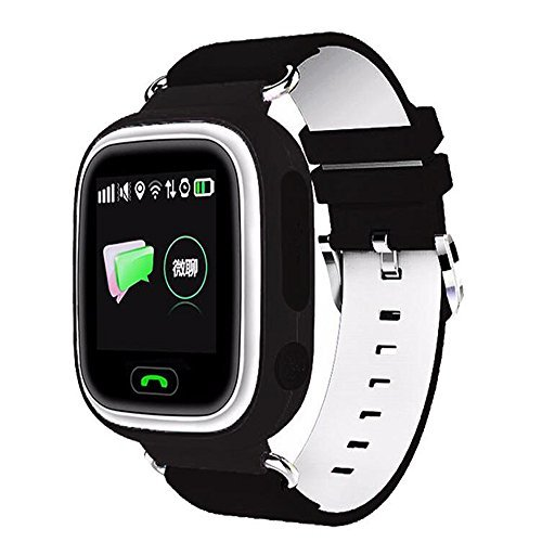 Q90 kids Smartwatch GPS/GSM/GPRS Triple Positioning GPRS Tracker Watch for Kids Children Smart Watch with SOS Support GSM phone Android IOS Anti Lost (BLACK)
