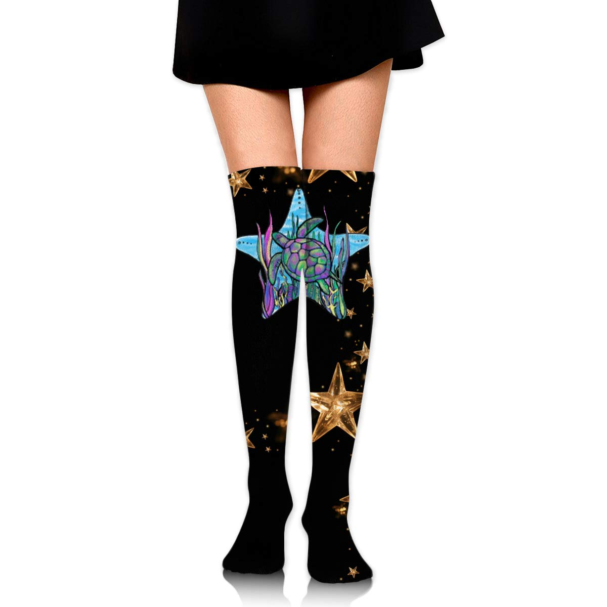 One Size Girls Womens Sea Turtle Over Knee Thigh High Stockings Fashion Socks