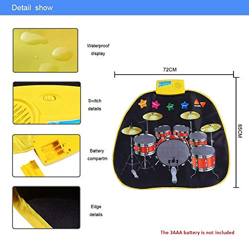 Electronic Musical Jazz Drum Mat Music Blanket Carpet Educational Toy Amazing Gifts for Boys & Girls and Baby Kids 72x62cmM by Mefashion (Image #3)