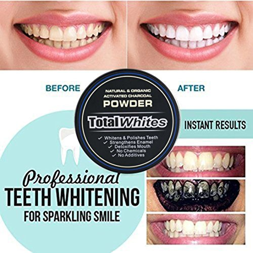 Price comparison product image Zyooh Novelty Teeth Whitening Powder 30g Natural Organic Activated Charcoal Bamboo Toothpaste Powder Effective Removes Tooth Stains