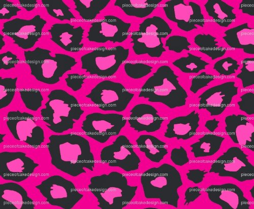 1/4 ~ Magenta Cheetah Print Birthday ~ Edible Cake/Cupcake Topper]()