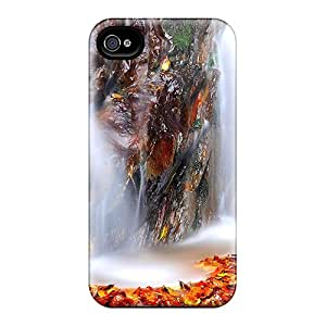 Shock-dirt Proof The Fallen Leaves Case Cover For Iphone 4/4s