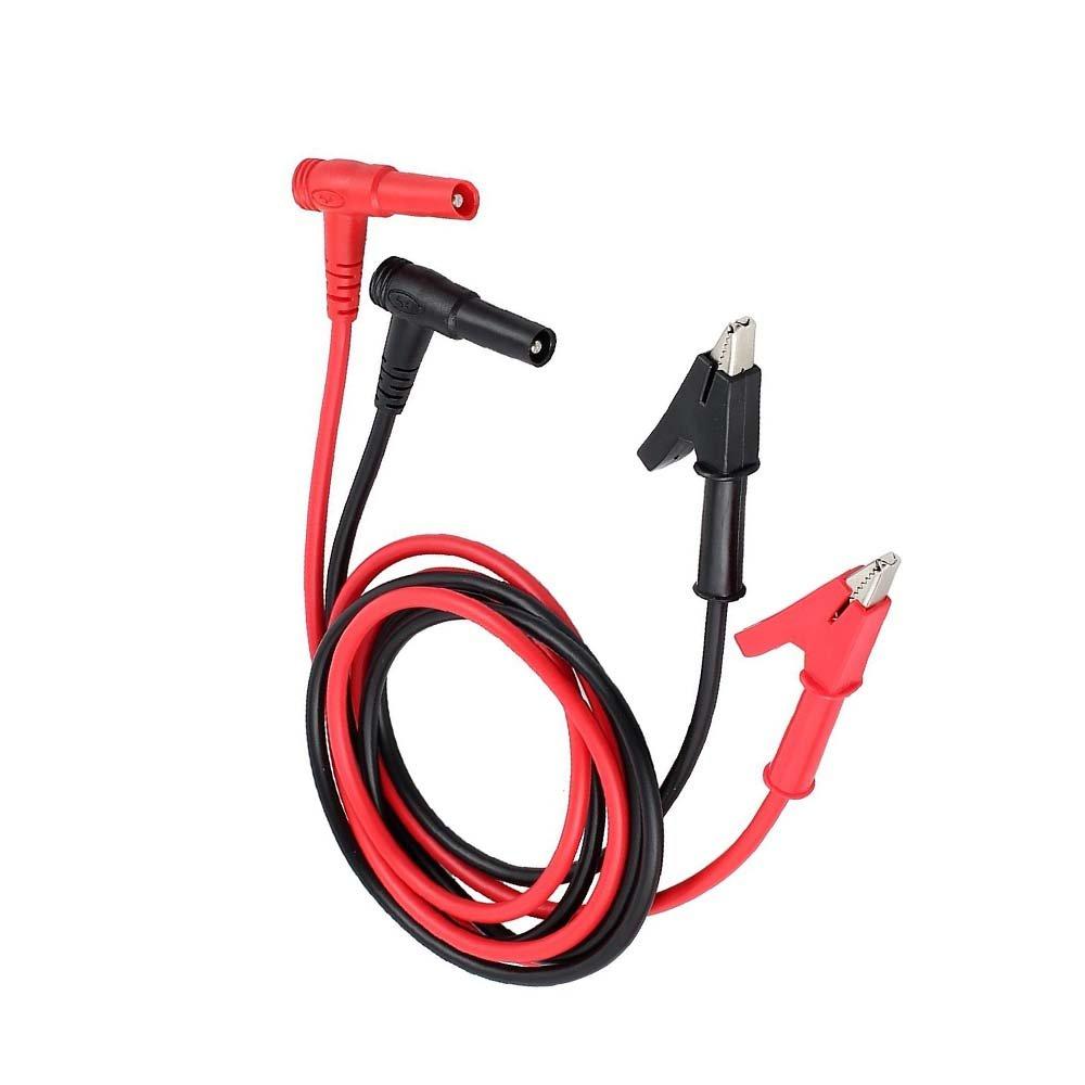 Jwqidi 2 Pcs 15A1000V Heavy Duty Multimeter Test Leads Banana Plug to Alligator Clip Test Cable 0.8M/4mm