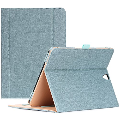 ProCase Galaxy Tab S3 9.7 Case, Stand Folio Case Cover for Galaxy Tab S3 Tablet (9.7 Inch, SM-T820 T825), with Multiple Viewing Angles, Document Card Pocket - Teal (Best Cover For Galaxy S3)