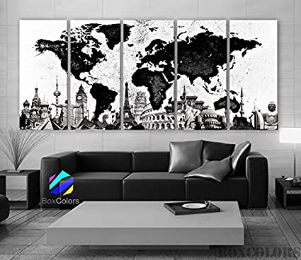 Xlarge 30x 70 5 panels 30x14 ea art canvas print original wonders of