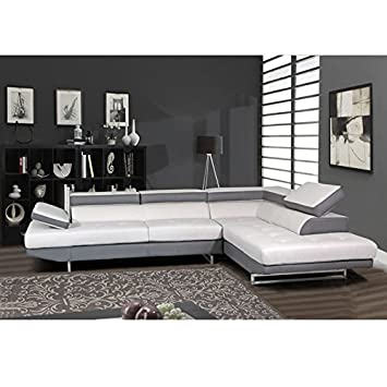 Amazon Global Furniture Natalie Sectional Sofa Grey with