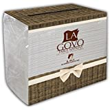 Premium Dinner Paper Napkins, 2 Ply, Packed in Value Bag of 130 Napkins, White, by LaGovo
