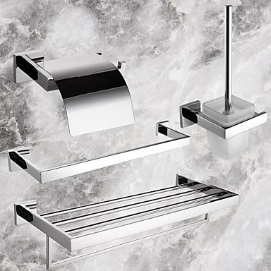 MEI Bathroom Accessory Set Stainless Steel Wall Mounted Stainless Steel Contemporary by MEI