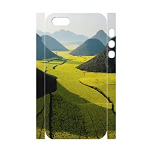 Iphone 5/5S Case 3D, Canola Flower Fields Case for Iphone 5/5S white lm5s177899