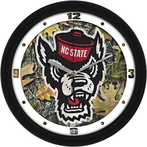 (SunTime NCAA North Carolina State Wolfpack Wall Clock - Camo)