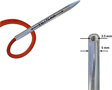 """2 packs  two prong Leather lacing threading needle up to 1//8th/"""" #1190-00. 10"""