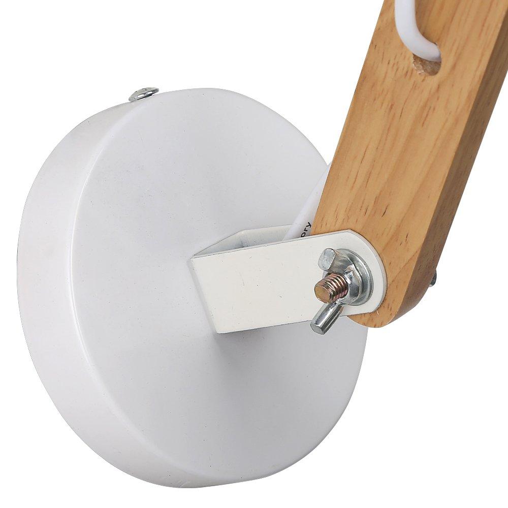 Splink moderno in legno regolabile lampada da paret e27 lampadari ...