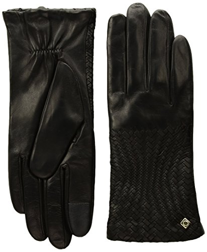 Cole Haan Women's Genevieve Woven Glove, black, MEDIUM by Cole Haan